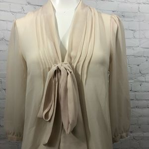 Pins and needles bow tie blouse